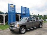2008 Graystone Metallic Chevrolet Silverado 1500 LS Extended Cab 4x4 #51776815