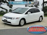 2007 Taffeta White Honda Civic Hybrid Sedan #51777292