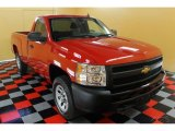 2008 Victory Red Chevrolet Silverado 1500 Work Truck Regular Cab 4x4 #51777153