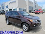 2011 Dark Cherry Kia Sorento LX AWD #51776722