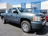 2011 Blue Granite Metallic Chevrolet Silverado 1500 LS Extended Cab 4x4 #51776902