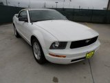 2005 Performance White Ford Mustang V6 Deluxe Convertible #51776920