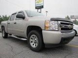 2008 Silver Birch Metallic Chevrolet Silverado 1500 LS Crew Cab 4x4 #51776942