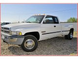 1998 Bright White Dodge Ram 3500 Laramie SLT Extended Cab Dually #51776969