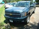 2011 Blue Granite Metallic Chevrolet Silverado 1500 LT Extended Cab 4x4 #51824862