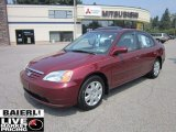 2002 Radiant Ruby Red Pearl Honda Civic EX Sedan #51855899