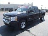 2009 Black Chevrolet Silverado 1500 LS Extended Cab 4x4 #51856795