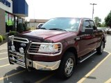 2006 Dark Toreador Red Metallic Ford F150 XLT SuperCab 4x4 #51857118