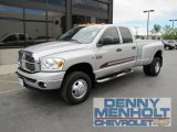 2008 Bright Silver Metallic Dodge Ram 3500 Big Horn Edition Quad Cab 4x4 Dually #51856952