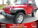 2011 Flame Red Jeep Wrangler Sport S 4x4 #51943173