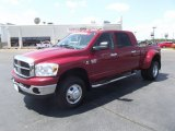 2007 Inferno Red Crystal Pearl Dodge Ram 3500 SLT Mega Cab 4x4 Dually #51943337