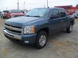 2011 Blue Granite Metallic Chevrolet Silverado 1500 LT Crew Cab #51943518