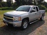 2011 Sheer Silver Metallic Chevrolet Silverado 1500 LT Extended Cab 4x4 #51989455