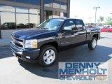 2008 Dark Blue Metallic Chevrolet Silverado 1500 LT Extended Cab 4x4 #51989417
