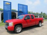 2008 Victory Red Chevrolet Silverado 1500 LT Extended Cab 4x4 #52039564