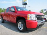 2011 Victory Red Chevrolet Silverado 1500 LS Crew Cab #52039699
