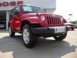 2011 Flame Red Jeep Wrangler Sahara 4x4 #52039879