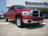 2006 Inferno Red Crystal Pearl Dodge Ram 1500 SLT Quad Cab #52039881