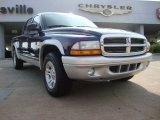 2004 Patriot Blue Pearl Dodge Dakota SLT Quad Cab #52039886