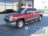 2004 Sport Red Metallic Chevrolet Silverado 1500 LS Crew Cab 4x4 #52039890