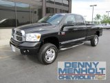 2007 Brilliant Black Crystal Pearl Dodge Ram 3500 Laramie Quad Cab 4x4 #52039895