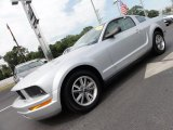 2005 Satin Silver Metallic Ford Mustang V6 Deluxe Coupe #52086887