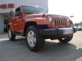 2011 Mango Tango Pearl Jeep Wrangler Sahara 4x4 #52087110