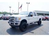 2011 Ford F250 Super Duty White Platinum Metallic Tri-Coat