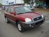 2004 Merlot Red Hyundai Santa Fe GLS 4WD #52118048