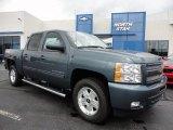 2011 Blue Granite Metallic Chevrolet Silverado 1500 LT Crew Cab 4x4 #52117999