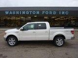 2011 White Platinum Metallic Tri-Coat Ford F150 Lariat SuperCrew 4x4 #52118105