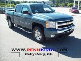 2011 Blue Granite Metallic Chevrolet Silverado 1500 LT Crew Cab 4x4 #52150286