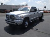 2008 Bright Silver Metallic Dodge Ram 3500 Big Horn Edition Quad Cab 4x4 Dually #52150213