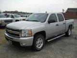 2011 Sheer Silver Metallic Chevrolet Silverado 1500 LT Crew Cab 4x4 #52150392
