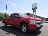 2010 Victory Red Chevrolet Silverado 1500 LT Extended Cab 4x4 #52150568
