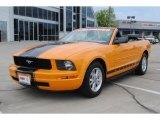 2007 Grabber Orange Ford Mustang V6 Premium Convertible #52150241