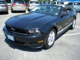 2011 Ebony Black Ford Mustang V6 Convertible #52200605