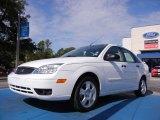 2005 Cloud 9 White Ford Focus ZX4 SES Sedan #52255877