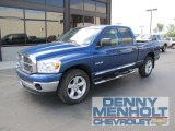 2008 Electric Blue Pearl Dodge Ram 1500 Big Horn Edition Quad Cab #52256224