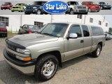 2002 Light Pewter Metallic Chevrolet Silverado 1500 LS Extended Cab 4x4 #52256388