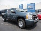 2011 Blue Granite Metallic Chevrolet Silverado 1500 LS Extended Cab 4x4 #52255942