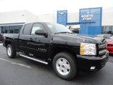 2011 Black Chevrolet Silverado 1500 LT Extended Cab 4x4 #52255944