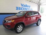 2011 Spicy Red Kia Sorento LX AWD #52255812