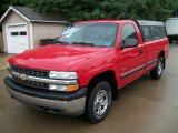 2002 Victory Red Chevrolet Silverado 1500 Work Truck Regular Cab 4x4 #52256263