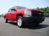 2008 Victory Red Chevrolet Silverado 1500 Work Truck Crew Cab 4x4 #52310643