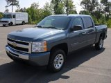 2011 Blue Granite Metallic Chevrolet Silverado 1500 LT Crew Cab #52362225