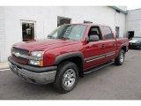 2005 Sport Red Metallic Chevrolet Silverado 1500 Z71 Crew Cab 4x4 #52361999