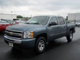 2011 Blue Granite Metallic Chevrolet Silverado 1500 LT Crew Cab 4x4 #52362275