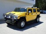 2003 Yellow Hummer H2 SUV #52390038
