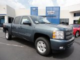 2011 Blue Granite Metallic Chevrolet Silverado 1500 LT Crew Cab 4x4 #52396042